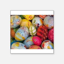 "Easter Eggs Square Sticker 3"" x 3"""