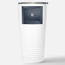 Cool Denim Monogram Stainless Steel Travel Mugs