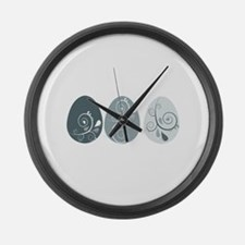 Easter Eggs Large Wall Clock