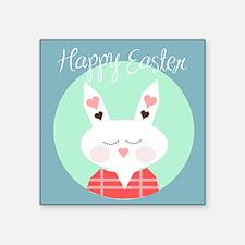 "Happy Easter Square Sticker 3"" x 3"""