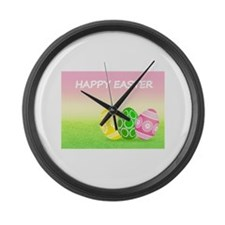 Happy Easter Large Wall Clock