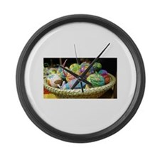 Easter Basket Large Wall Clock