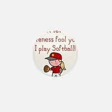 Cute Softball Mini Button (10 pack)
