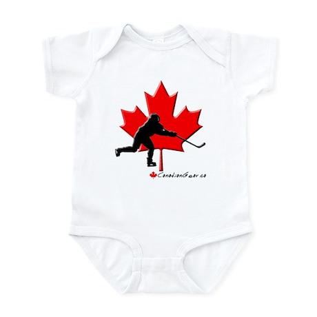 Canadian Hockey Player Infant Bodysuit