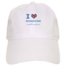I Love someone with Autism Baseball Baseball Cap