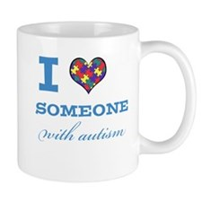 I Love someone with Autism Mug