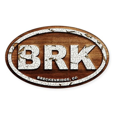 Breck Peeled Wood Sticker (Oval)