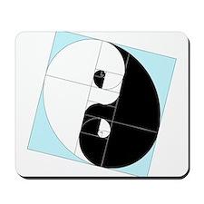 Golden Ratio Yin Yang Mousepad