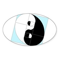 Golden Ratio Yin Yang Decal