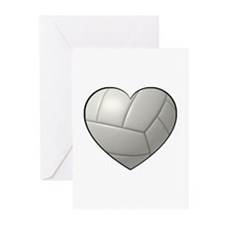 Volleyball Heart Greeting Cards (Pk of 20)