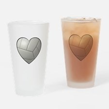 Volleyball Heart Drinking Glass