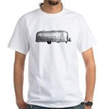 Air stream trailer Mens White T-shirts