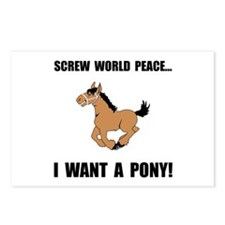 Want Pony Postcards (Package of 8)