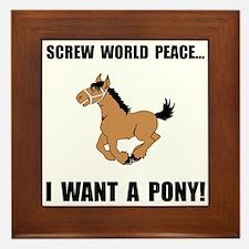 Want Pony Framed Tile