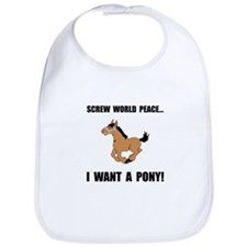 Want Pony Bib