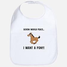 Want Pony Bib