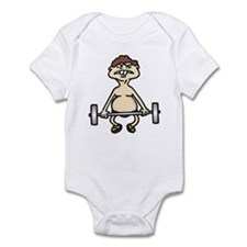 Funny Bodybuilding Infant Bodysuit
