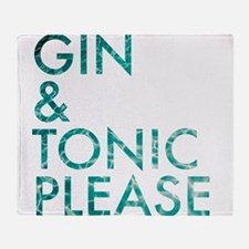 gin tonic please Throw Blanket