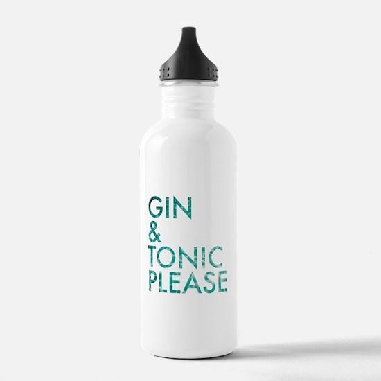 gin tonic please Water Bottle