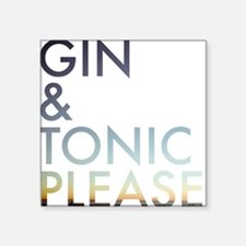 gin and tonic please Sticker