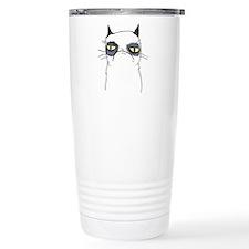 Cute Angry cat Travel Mug