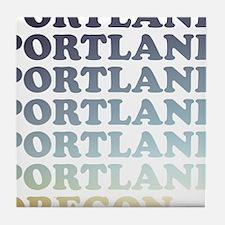 portland, oregon Tile Coaster