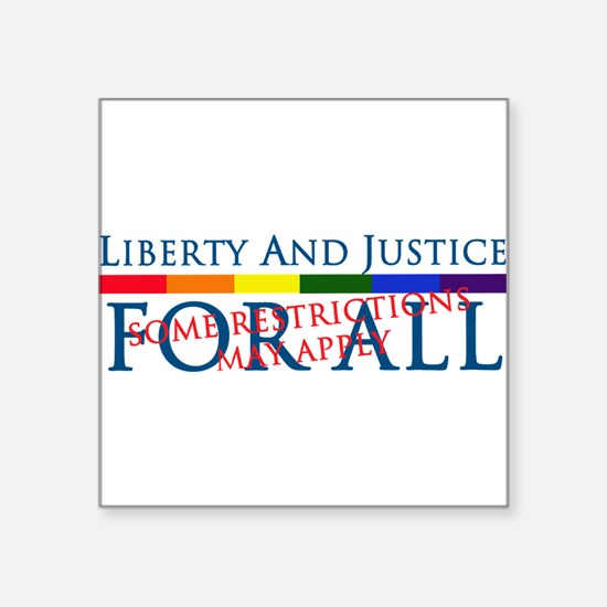 Liberty And Justice For All Rectangle Sticker