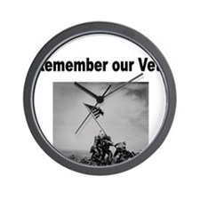 Remember Our Vets Wall Clock
