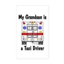Taxi Driver Grandson Rectangle Decal