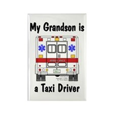 Taxi Driver Grandson Rectangle Magnet