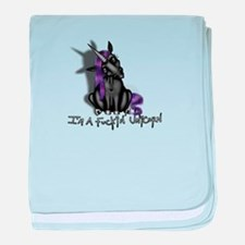 Ima Fuckin Unicorn /Black baby blanket