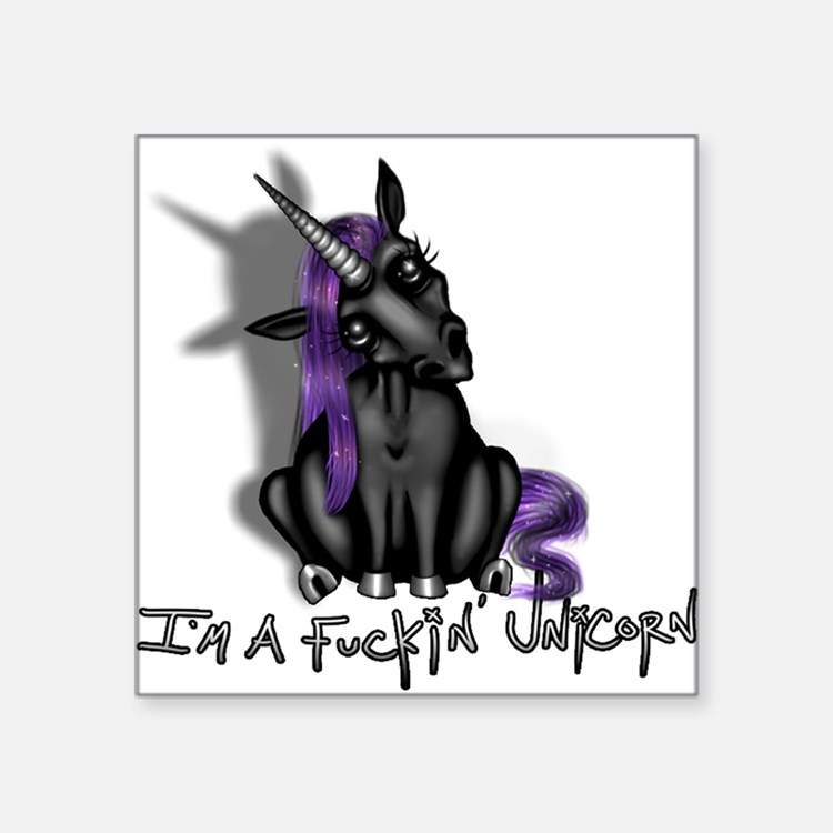 Ima Fuckin Unicorn /Black Sticker