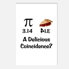 Pi Coincidence Postcards (Package of 8)