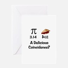 Pi Coincidence Greeting Card