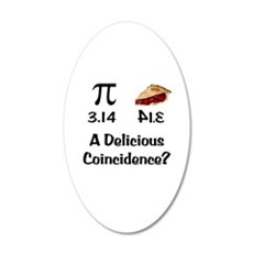 Pi Coincidence Wall Decal