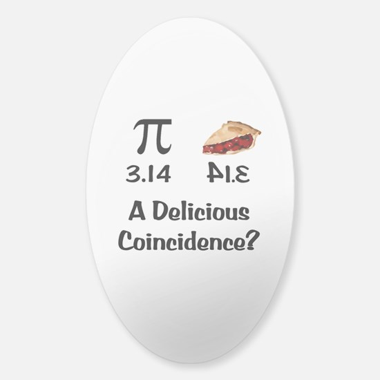 Pi Coincidence Sticker (Oval)