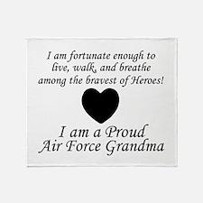 AF Grandma Fortunate Throw Blanket