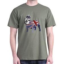 English Bulldog and Crown T-Shirt