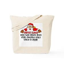 Santa Claus Humor Tote Bag