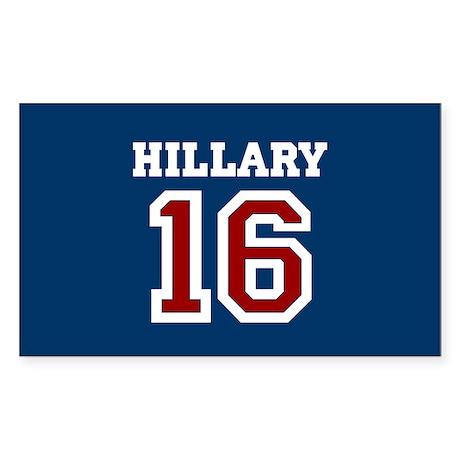 Hillary Sports Jersey Sticker (Rectangle)