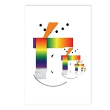 HOLIDAY PRIDE SNOWMEN Postcards (Package of 8)