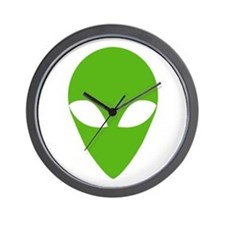 GREEN ALIEN Wall Clock