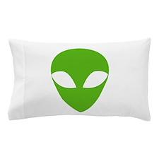 GREEN ALIEN Pillow Case