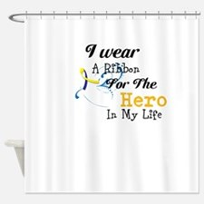 Down syndrome Hero Shower Curtain