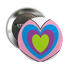 "Heart Shaped Tee Shirts And Mugs 2.25"" Button"
