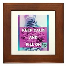 Keep Calm and Fill On (Purple and Teal) Framed Til
