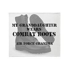 AF Grandma Granddaughter wears CB Throw Blanket