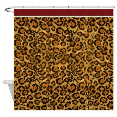 graphic jaguar animal print shower curtain by