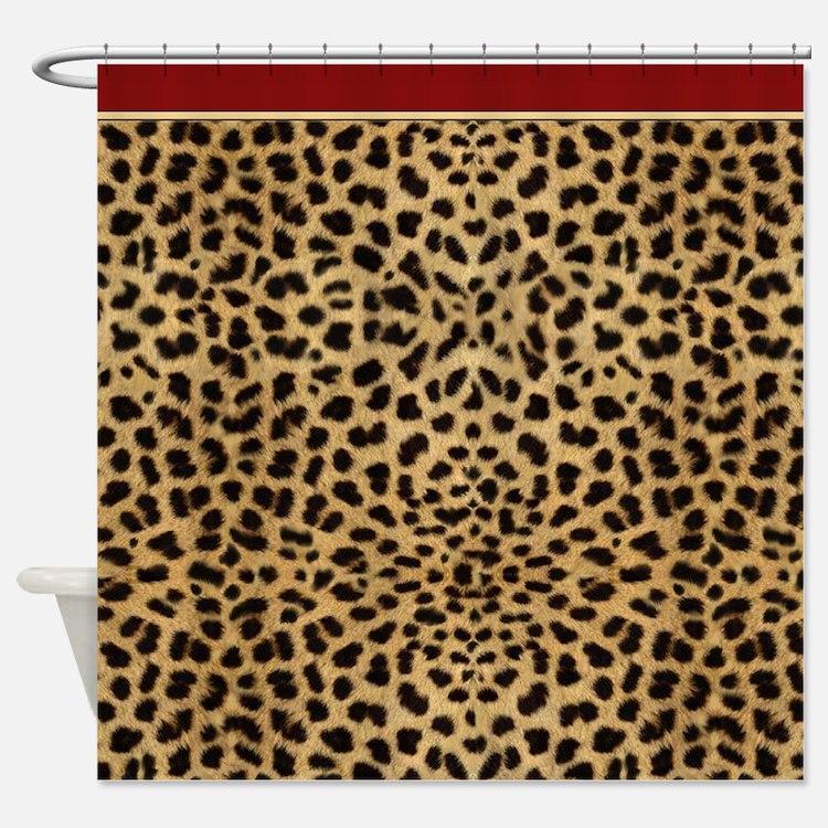print shower curtains cheetah print fabric shower curtain liner
