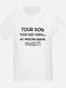 African serval Cat designs T-Shirt